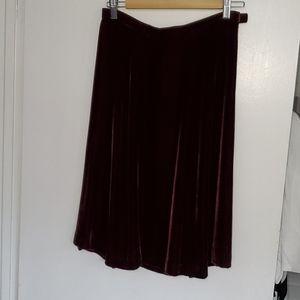Eddie Bauer Burgundy Velvety Skirt